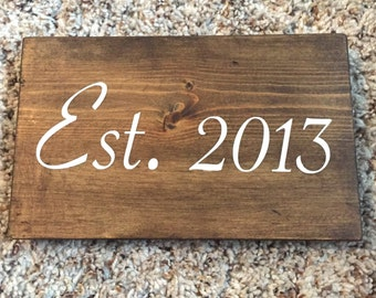 Year Established Wooden Sign, Established Sign, Family Established Sign, Wedding Anniversary Sign