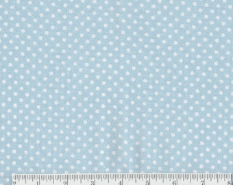 Polka Dots  -1 yd - Camelot - White Dots on Blue