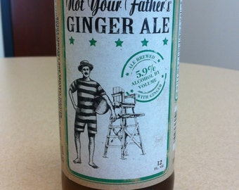 Not Your Father's Ginger Ale - Spring Meadow - Beer Bottle Candle