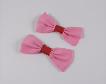 Pretty in pink bows/ hair clips