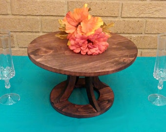 Wedding Cake Stand, Reclaimed wood, Custom Cake Stand, Rustic Cake Stand, Country Wedding decor, Round Cake Stand