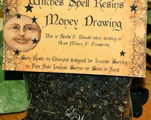 Money Drawing ~ Witches Spell Resin ~ Money Spells, Prosperity, Good Fortune - Natural Witches Resin