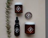 Pépin Kit: lip balm, dry shampoo, body butter, tonic serum; organic skincare, body care, natural cosmetics