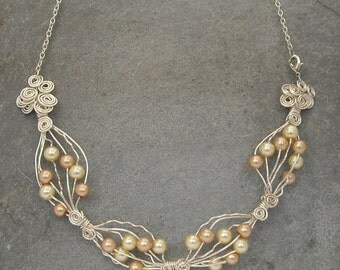 Silver & Pearl Necklace