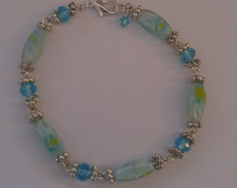Matching baby blue bracelet