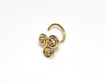 Small NOSE STUD / Brass nose ring stud, cartilage stud, helix earring stud, tragus stud, 20g cartilage earring, tragus earring