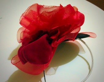 Poppy Headband Fascinator