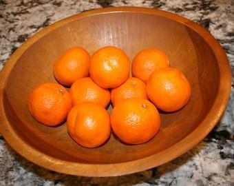 1960s Wooden Fruit Bowl//Hand Painted//Vintage Wooden Fruit Bowl