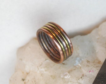 Mens copper ring  Simple ring Unisex ring Unique ring Bohemian ring Copper jewelry Gihts for him  Gihts for her Boho copper ring