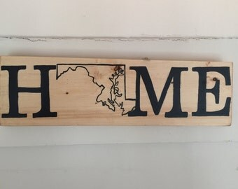 Personalized State Home Sign