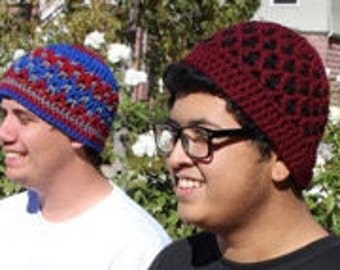 Double Triangle Reversible Beanie
