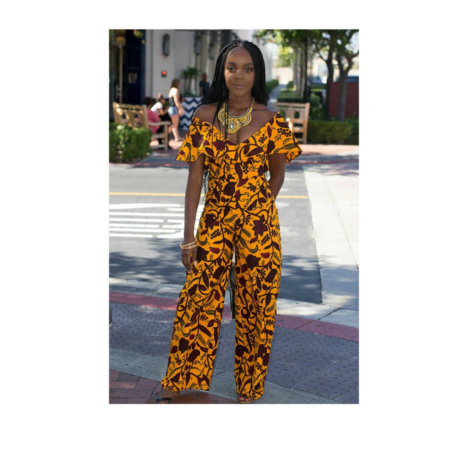 African Jumpsuit Ankara Jumpsuit African Print By TrueFond On Etsy