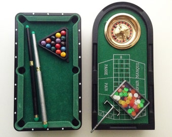 Mini pool and French roulette | vintage table games