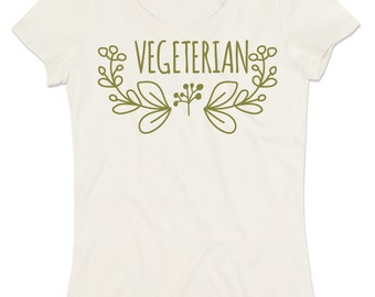 Custom organic cotton crew neck t-shirt Woman VEGETARIAN