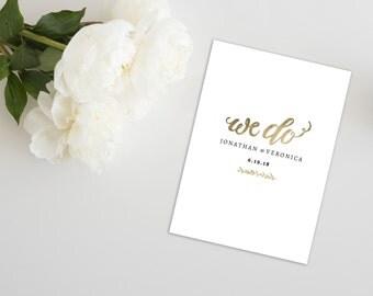 "Wedding Program Folded Template   Program Printable, Ceremony Printable   Wedding Gold  5x7""   No. EDN 5119"