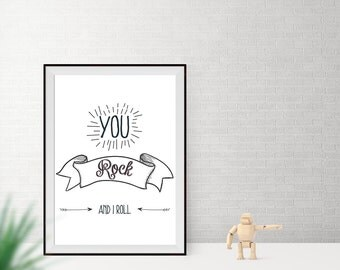 Art print / / you rock