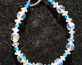 Light Blue Swarovski Bracelet, Crystal Bracelet, Swarovski, Blue Jewelry, Blue Crystal Bracelet, Blue Bracelet