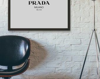 Prada Milano Print, Prada Print, Typography Art, Printable Art, Digital Prints, Printable Wall Art, Typography Prints, Art Prints