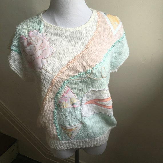Vintage 80s RAD Hipster Sweater Vest Geometric Pattern