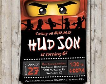 Ninjago birthday invitation - personalized for your party - digital / printable DIY Ninjago inspired ninja birthday invitation