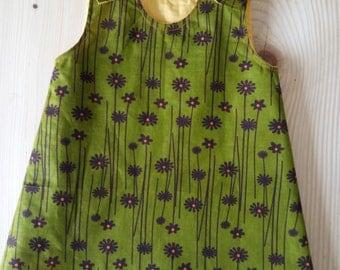 Dress baby 6 months, in wax.