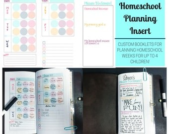 Printable Homeschool Planner - Planning Insert - Homeschooling Printables - Custom Booklet - Homeschool Organizer - Travelers Notebook