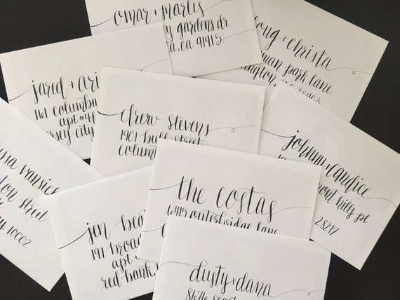 hand lettered envelopes lettered address envelopes wedding by campbellfornia 13874 | il 570xN.891307017 3mqk