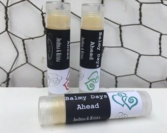 Customizable Wedding Favors - Organic Lip Balm (lot of 20)