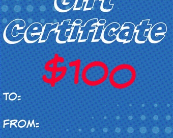 100 Dollar Gift Certificate - Gift Card For Sew Geeky NJ - SewGeekyNJ - Sewn in NJ - Ready to Ship