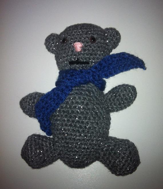 Grey Bear Amigurumi Crochet Pattern : Amigurumi Teddy Bear Crochet Amigurumi Grey Teddy Handmade