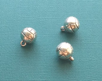 10 Volleyball Charms Silver - CS2519