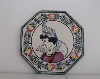 earthenware Henriot - Quimper earthenware trivet trivet