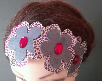 three flowers headband