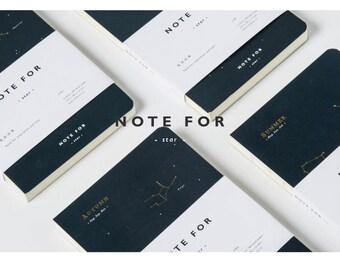 Star Season blank notebook, Minimalist blank Notebook, Journal, Planner, Journal Insert, Planner Insert