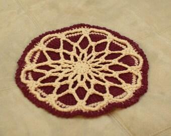 Crochet Pot Holder : Hot Pad Doily