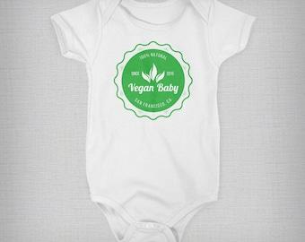 Baby Onesie, Custom Onesie,  Vegan Baby, Funny Baby Onesie, Baby Boy, Baby Girl, Baby Gift, Unique Onesie, Retro Onesie