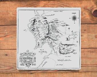 Middle Earth Map Cross-Stitch (PDF Pattern)