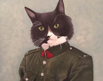 Custom Pet Portrait on Military Body