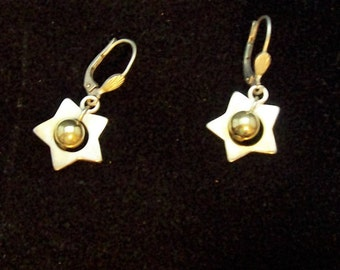 Vintage Italian Silver 925 Star Earrings