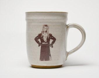 David Bowie Mug/ Jareth Labyrinth Mug/ Mac's Mugs/ Mac McCusker Ceramics/ Bowie cup/ Labyrinth beer mug/ Goblin King mug/ David Bowie