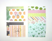 Blooms and Butterflies Stationery Set with Hello Stamp - Handmade - A2 - Blank inside - Set of 8