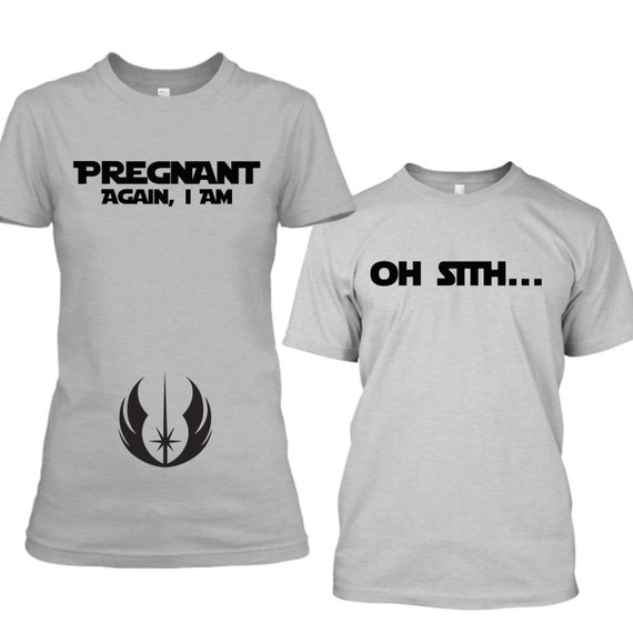 Matching Star Wars Pregnancy Announcement Shirts Funny Baby – T Shirt Baby Announcement
