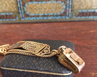 Antique  /  Pocket Watch Chain and Fob