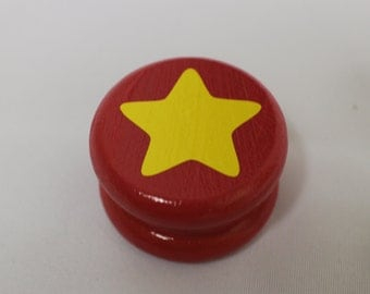 """Wood Red Steven Universe Herb Grinder 2"""" Cute  2 Piece Weed Accessory"""