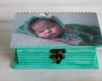 Personalized Photo Baby Keepsake Box Custom Photo Memory Box Personalized Baby Gift Personalized Baby Memory Box Personalized Photo Box