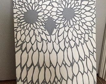 Abstract Owl Painting