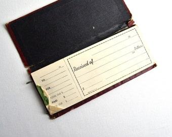 vintage money receipts book