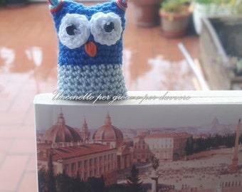 hand made- Bookmark crocheted owl