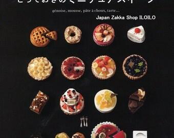 "Japanese Resin miniature Handicraft Book,""Cute miniature Sweets made of resin clay"",Handmade,DIY,Japan"