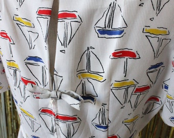 Sailboat Stunner: Vintage Sheath Dress